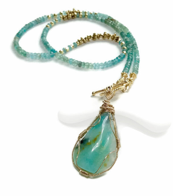 Peruvian Opal Necklace - Van Der Muffin's Jewels - 1