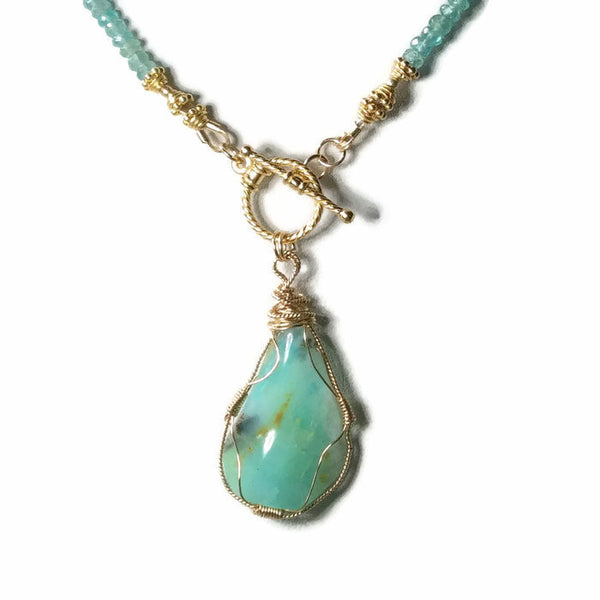 Peruvian Opal Necklace - Van Der Muffin's Jewels - 5