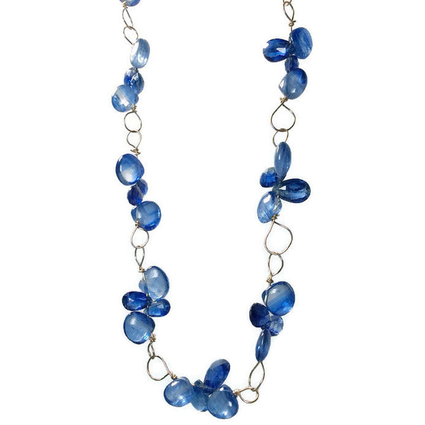 Royal Kyanite Cluster Necklace - Van Der Muffin's Jewels