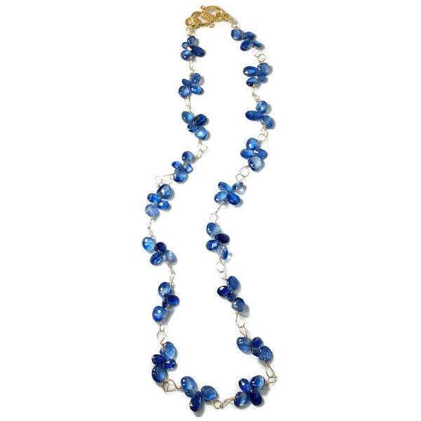 Royal Kyanite Cluster Necklace - Van Der Muffin's Jewels - 4