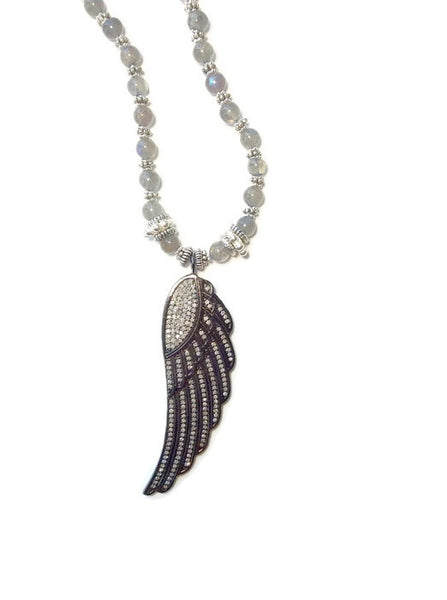 Diamond Angel Wing Necklace - Van Der Muffin's Jewels