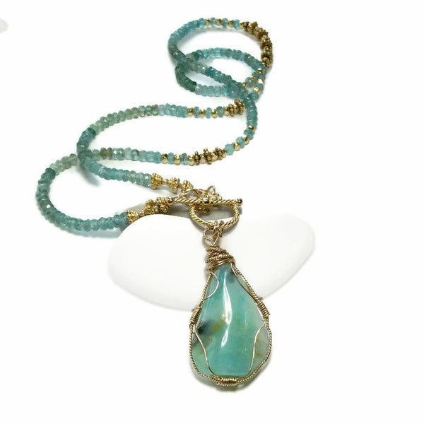Peruvian Opal Necklace - Van Der Muffin's Jewels - 2