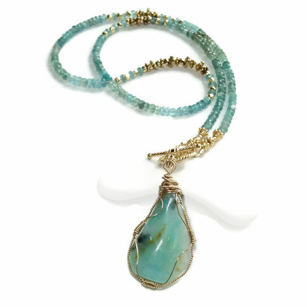 Peruvian Opal Necklace - Van Der Muffin's Jewels - 3