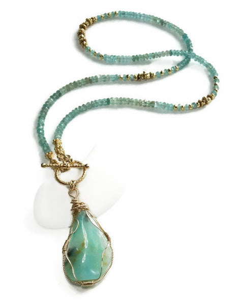 Peruvian Opal Necklace - Van Der Muffin's Jewels - 4