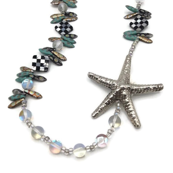 Mackenzie-Childs Inspired Statement Starfish Necklace