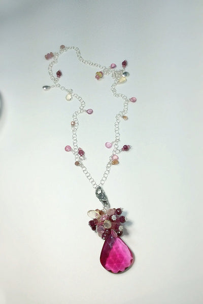 Pink Topaz Pendant Necklace - Van Der Muffin's Jewels - 3