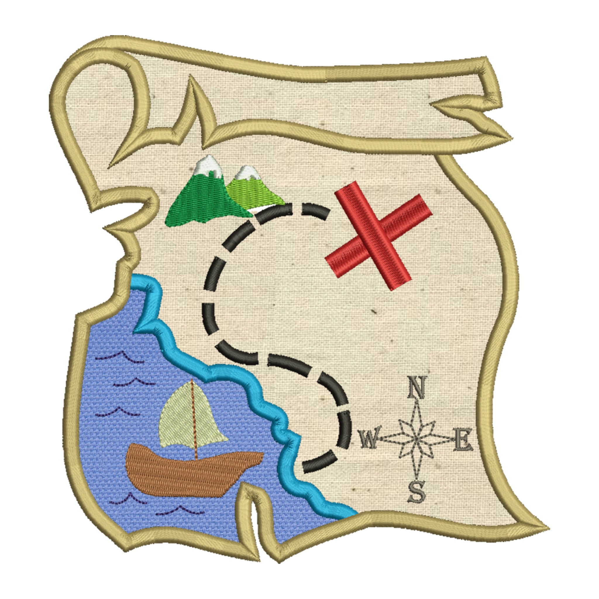 Treasure map applique laugh love applique treasure map applique gumiabroncs Image collections