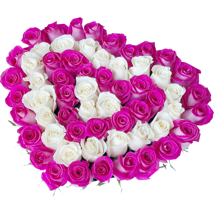 Heart Shape- FRESH CUT ROSES