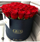Large Round Box- FRESH CUT ROSES