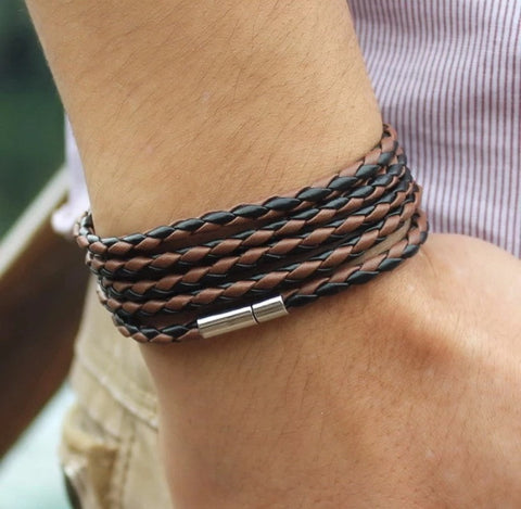 5 laps bracelet Brown & Black