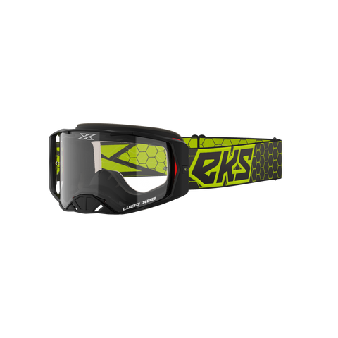 Lucid Goggle Black & Flo Yellow - Clear Lens