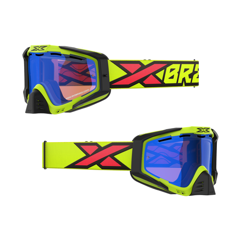 SNOW-X EKS-S Goggle Flo Yellow, Black & Fire Red
