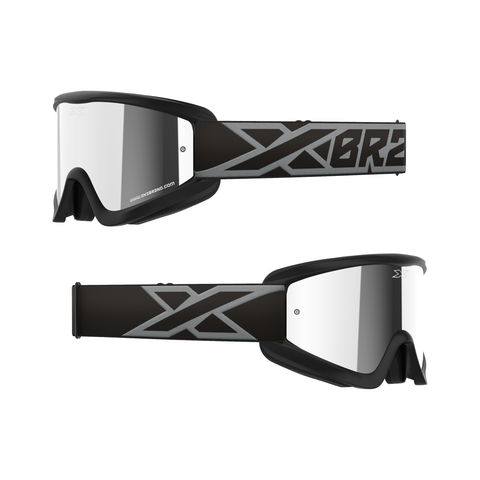 GOX Flat-Out Mirror Goggle Black & Silver