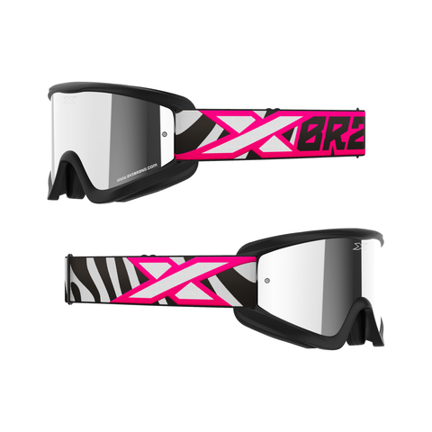 GOX Flat-Out Mirror Goggle Flo Pink Zebra