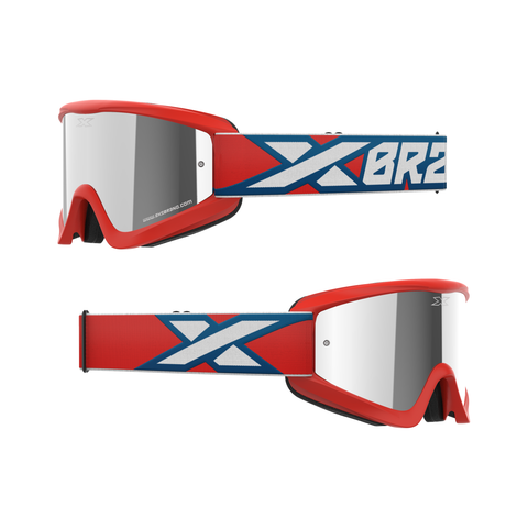 GOX Flat-Out Mirror Goggle Red, White & Blue