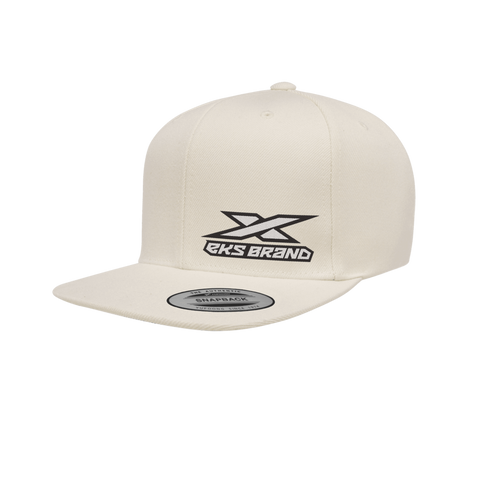 EKS Brand SnapBack Hat - Natural White