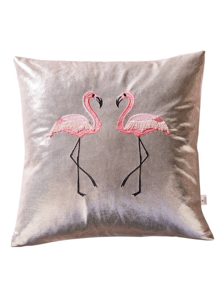Cojín Metallic Flamingo