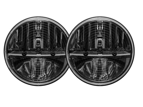 "RIGID INDUSTRIES 7"" LED <br> ""HEATED"" HEADLIGHT pair <br>NO PWM ADAPTER<br>   #RIG55005"