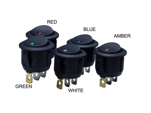 "1"" Round LED Rocker Switch <br> Choose Color"