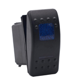 Dual Blue LED Rocker Switch DUAL BLUE LED   <br>5 post terminal