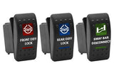 Custom Dual LED Rocker Switch <br>(Complete Switch) <br> Graphics BLUE, RED, AMBER, or GREEN