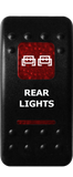 Custom Dual LED Rocker Switch <br>(Cover Only) <br> Graphics BLUE, RED, AMBER, or GREEN