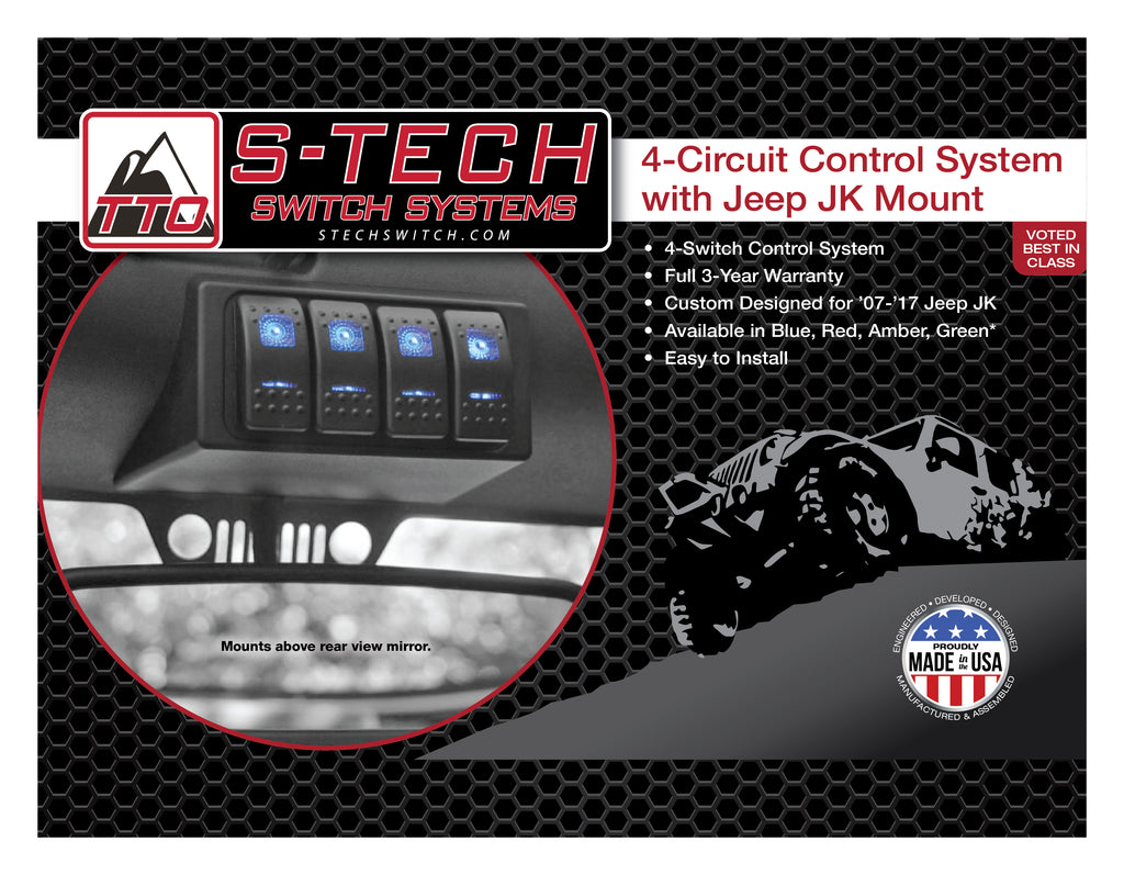 Stech 4 Switch System Jk Housing Plug Play Harness Team Tech Offroad Aftermarket Wiring For Saab