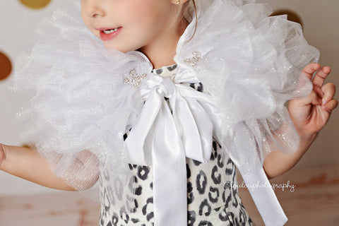 White Tulle Capelet