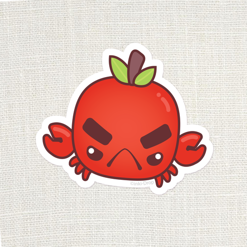 Chonk Crabapple Sticker