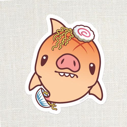 Chonk Pork Chomp Sticker