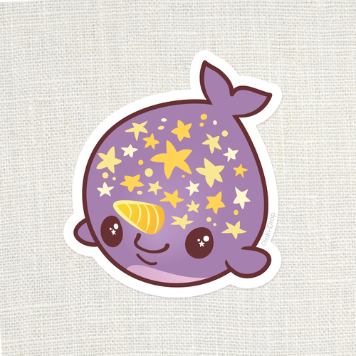 Chonk Starwhal Sticker