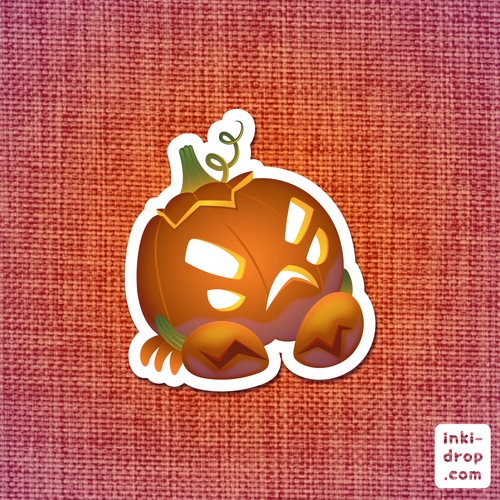 Crab O'Lantern Vinyl Sticker