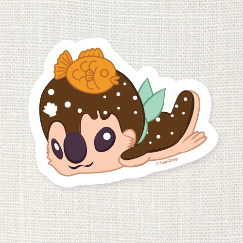 Eclair the Pastry Otter Sticker