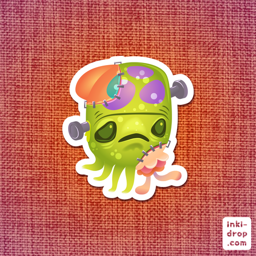 Frankentoof Vinyl Sticker