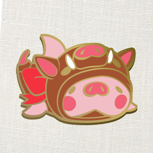 "Konbini Chomp ""Year of the Boar"" Enamel Pin"