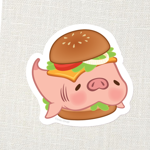 """HAMburger"" Konbini Chomp Sticker"