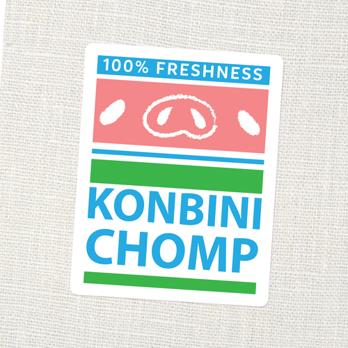 Konbini Chomp Logo Sticker