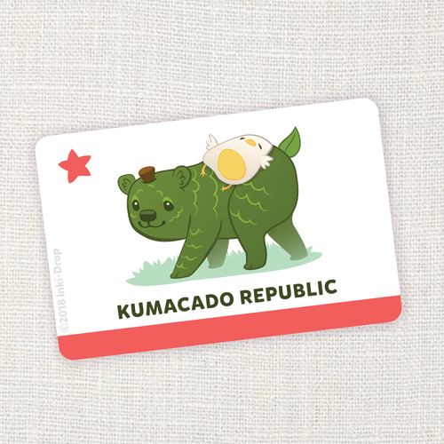 """Kumacado Republic"" California Flag Sticker"