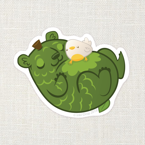 Kumacado Nap Sticker