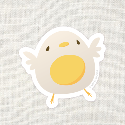 Pïp the Egg Bird Vinyl Sticker