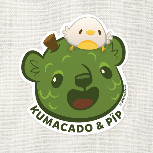 Kumacado Bear Smile Sticker