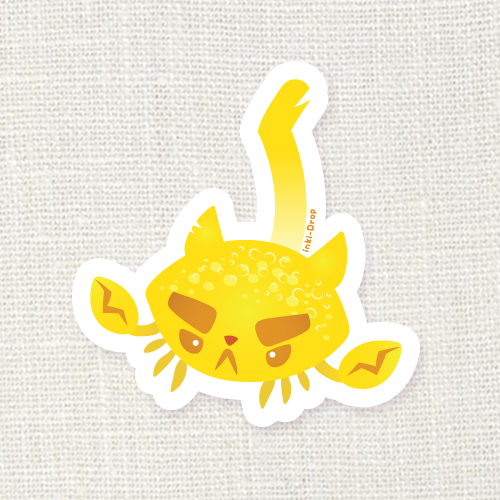 Lemon Crabcat Sticker