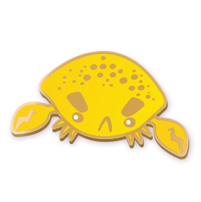 Lemon Crab Pin