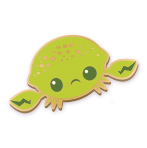 Lime Crab Pin