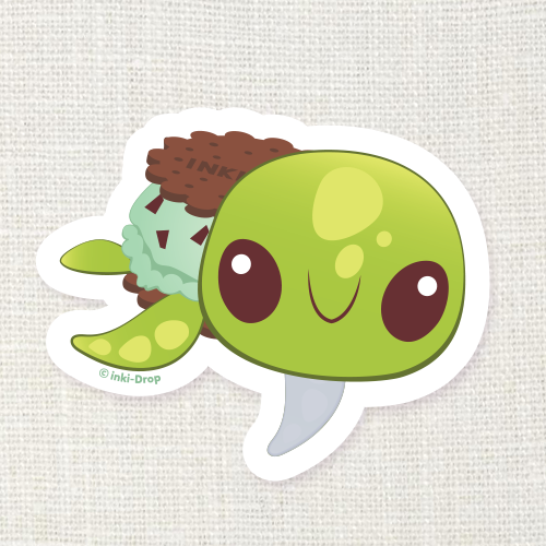 Mint Chocoturtle Sticker