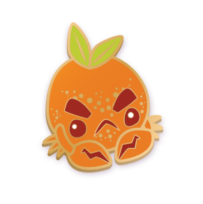 Orange Crab Pin
