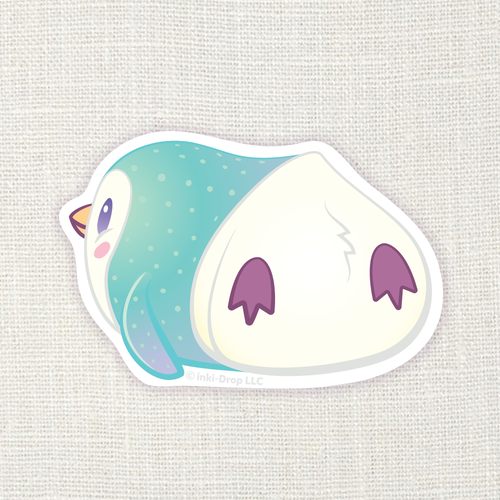 Gumdrop Penguin Sticker - Aqua