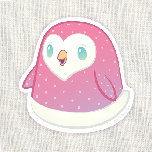 Gumdrop Penguin Sticker - Pink