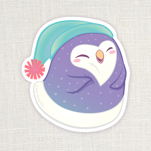 Gumdrop Penguin Sticker - Purple