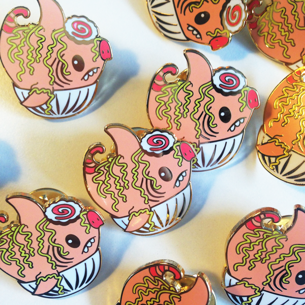 Pork Chomp Ramen Bowl Enamel Pin